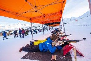 initiation de biathlon pour les groupes et les team building en sortie d'entreprise dans le Vercors
